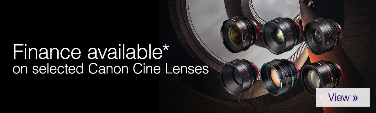 Finance available on selected Canon Cine Lenses